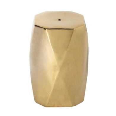 tabouret céramique doré